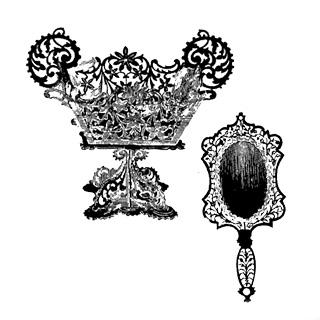 Disegni disegno da traforo cestello e cornice per specchio - Specchio per valutazione posturale ...